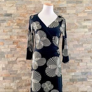 Maggy London Printed Long Sleeve Wrap Dress